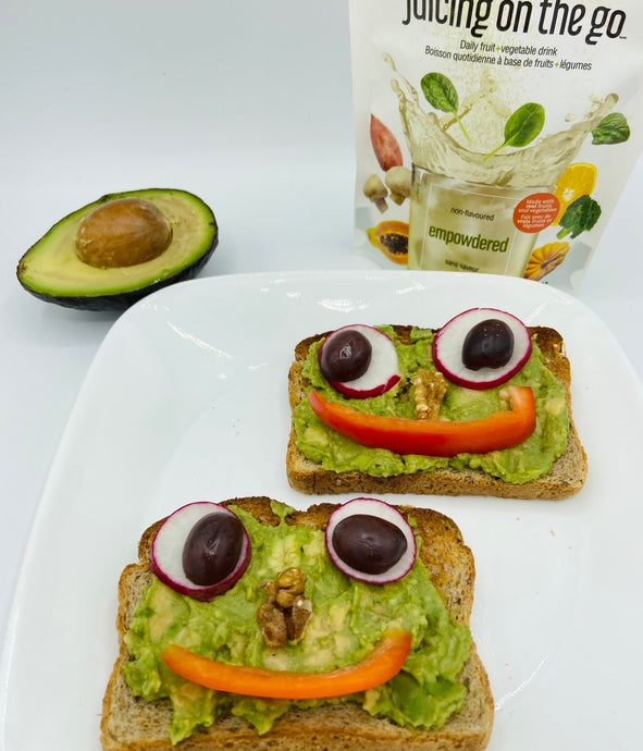 Halloween Avocado Toast with LYNQ Empowdered