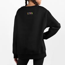 Load image into Gallery viewer, LYNQ Mirror-Reflection black crew neck