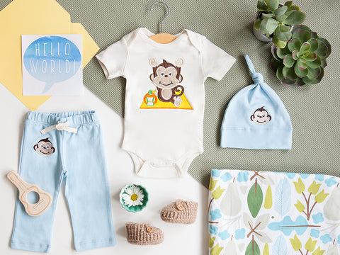 Baby Boy Welcome Set Organic Cotton