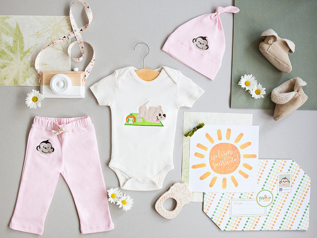 Baby Girl Welcome Set Organic Cotton