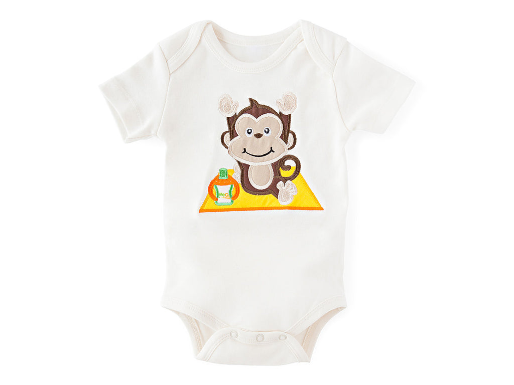 Monkey Pose Bodysuit Organic Cotton
