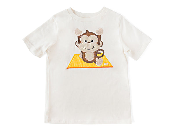 Monkey Pose T-Shirt Organic Cotton