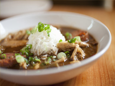 Chicken & Sausage Gumbo (Serves 12-16)