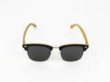Bamboo Clothing & Accessories by Mabboo, Clubmaster - Black stain front / Smoke lens, Sunglasses