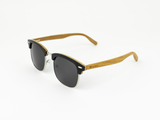 Clubmaster - Black stain front / Smoke lens - Mabboo