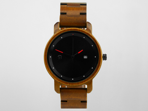 Bamboo Clothing & Accessories by Mabboo, Bamboo Watch - Black Anji - 41mm., Watches