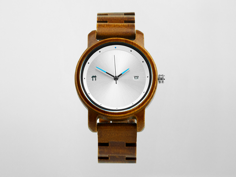 Bamboo Watch - Silver Anji - 37mm. - Mabboo