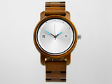 Bamboo Clothing & Accessories by Mabboo, Bamboo Watch - Anji Silver - 41mm., Watches