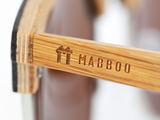 Bamboo Clothing & Accessories by Mabboo, Clubmaster - Brown stain / Gradient brown lens, Sunglasses