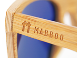 Bamboo Clothing & Accessories by Mabboo, Wayfarer - Brown stain front / Smoke lens, Sunglasses