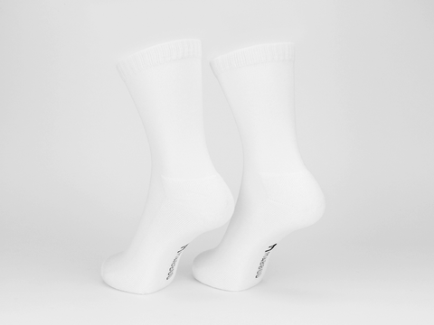 Bamboo Clothing & Accessories by Mabboo, White x1 Pair Bamboo Sport Socks, W_Socks