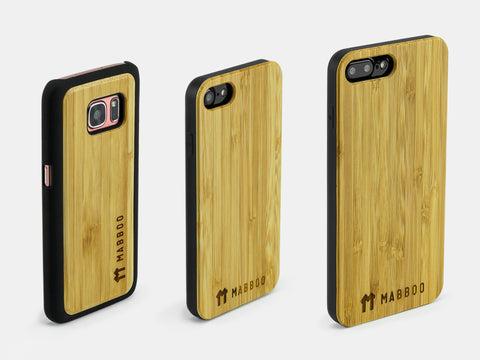 Bamboo Clothing & Accessories by Mabboo, Bamboo Back Case, Phone Cases