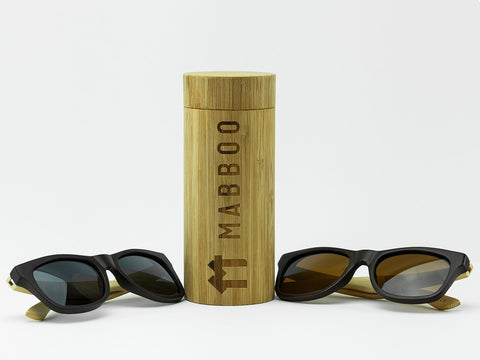 Bamboo Clothing & Accessories by Mabboo, Bamboo Sunglasses Case, Sunglasses