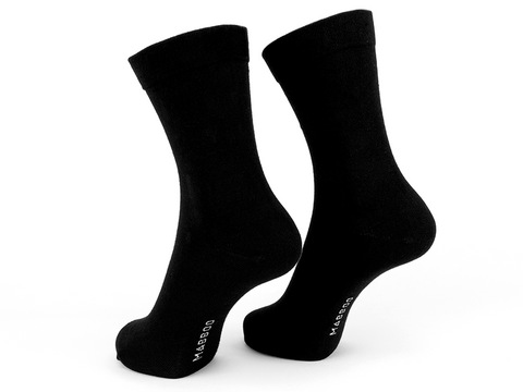 Bamboo Clothing & Accessories by Mabboo, Black x2 Pairs Bamboo Socks, W_Socks