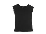 Bamboo Clothing & Accessories by Mabboo, Black - Raglan Sleeve Bamboo T-Shirt, WOMENS T-Shirt