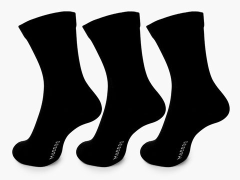 Bamboo Clothing & Accessories by Mabboo, Black x3 Pairs Bamboo Socks, M_Socks