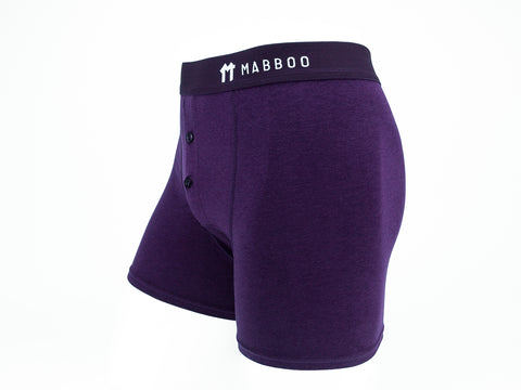 Bamboo Clothing & Accessories by Mabboo, Dark Purple Boxers, M_Underwear