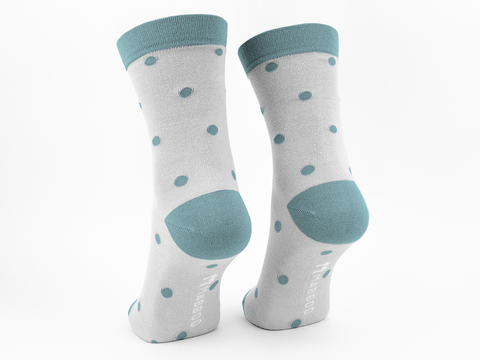 Cream dots x1 Pair Bamboo Socks - Mabboo