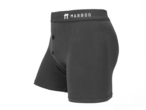 Bamboo Clothing & Accessories by Mabboo, Grey Boxers, M_Underwear