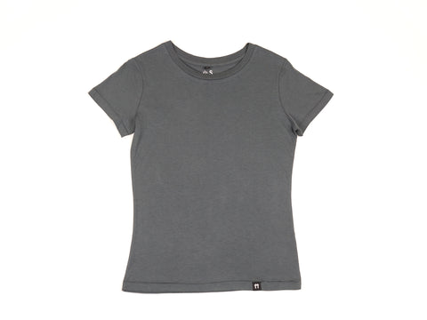 Bamboo Clothing & Accessories by Mabboo, Charcoal - Jersey Sleeve Bamboo T-Shirt, WOMENS T-Shirt
