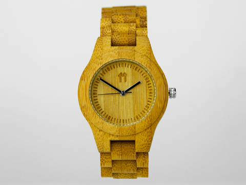 Bamboo Clothing & Accessories by Mabboo, Waterproof Bamboo - 32mm., Watches