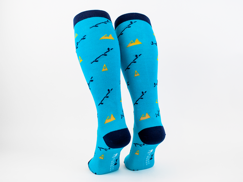 Boo mountain x 1 Pair Knee High Bamboo Socks - Mabboo