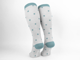 Bamboo Clothing & Accessories by Mabboo, Cream Dots x 1 Pair Knee High Bamboo Socks, W_Socks