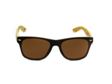 Bamboo Clothing & Accessories by Mabboo, Wayfarer - Brown stain front / Brown lens, Sunglasses