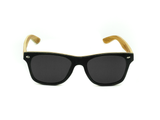 Bamboo Clothing & Accessories by Mabboo, Wayfarer - Black stain front / Smoke lens, Sunglasses