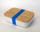 Bamboo Lunchboxes - White/Blue Strap