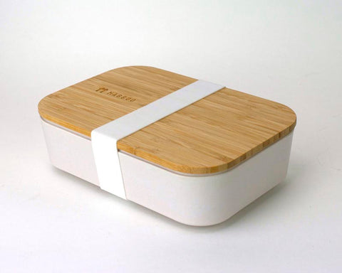 Bamboo Lunchboxes - White/White Strap