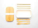 Bamboo Clothing & Accessories by Mabboo, Bamboo Lunchboxes - White, Others