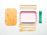 Bamboo Clothing & Accessories by Mabboo, Bamboo Lunchboxes - Light Rose, Others