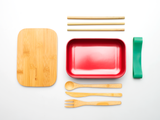 Bamboo Clothing & Accessories by Mabboo, Bamboo Lunchboxes - Red, Others