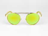 Bamboo Clothing & Accessories by Mabboo, Metal Frame - Gold Yellow Lens, Sunglasses