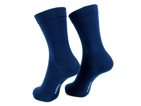 Navy x1 Pair Bamboo Socks - Mabboo
