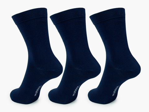Bamboo Clothing & Accessories by Mabboo, Navy x3 Pairs Bamboo Socks, M_Socks