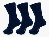 Bamboo Clothing & Accessories by Mabboo, Navy x3 Pairs Bamboo Socks, W_Socks