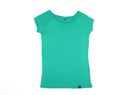 Bright Green - Raglan Sleeve Bamboo T-Shirt - Mabboo