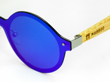 Bamboo Clothing & Accessories by Mabboo, One Piece - Blue/Purple Lens, Sunglasses