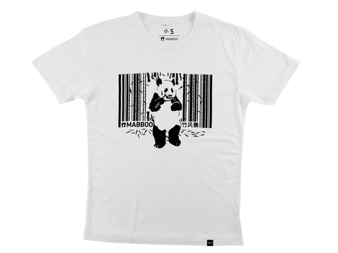 Bamboo Clothing & Accessories by Mabboo, Pandacode - White Bamboo T-Shirt, MENS T-Shirt