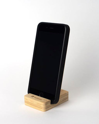 Bamboo Clothing & Accessories by Mabboo, Bamboo Block Phone/Tablet Stand, Phone Cases