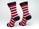 Bamboo Clothing & Accessories by Mabboo, Black Stripes x1 Pair Bamboo Socks, W_Socks