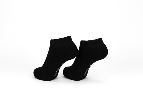 Bamboo Clothing & Accessories by Mabboo, Black x1 Pair Bamboo Trainer Socks, M_Socks