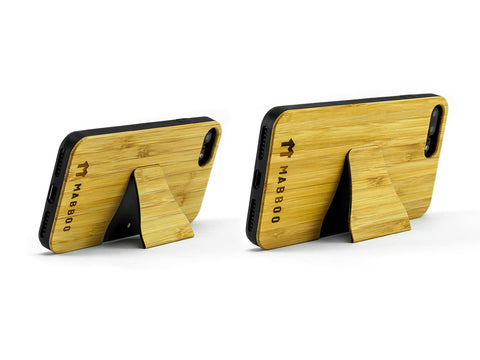Bamboo Clothing & Accessories by Mabboo, In-Built Stand Bamboo Case, Phone Cases