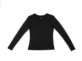 Black - Bamboo Long Sleeve Top - Mabboo