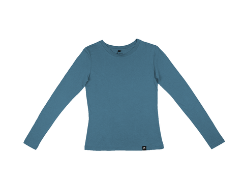 Bamboo Clothing & Accessories by Mabboo, Blue - Bamboo Long Sleeve Top, WOMENS T-Shirt