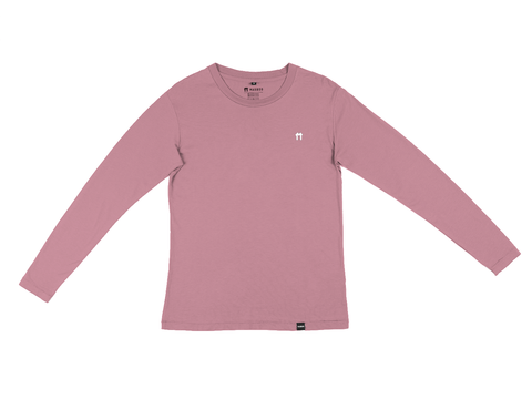 Light Burgundy Bamboo Long Sleeve Top with logo - Mabboo