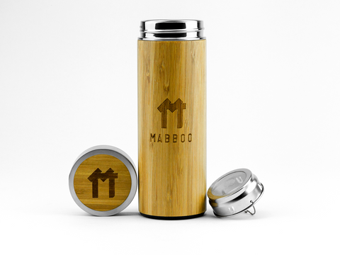 Bamboo Clothing & Accessories by Mabboo, Tea Flask - Short, Drinking Accessories