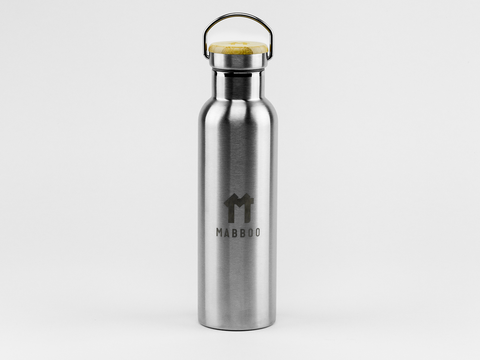 Bamboo Clothing & Accessories by Mabboo, Thermal Drinking Bottle - Brushed Finish, Drinking Accessories